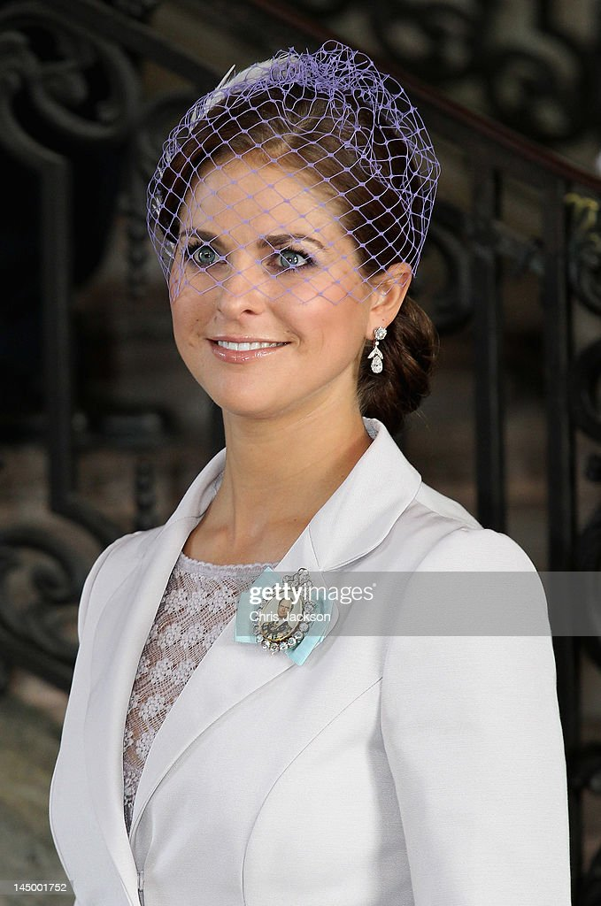 Princess Madeleine of Sweden attends the christening of new Swedish heir to the throne Princess Estelle Silvia Ewa Mary of Sweden at The Royal Palace on May 22, 2012 in Stockholm, Sweden.