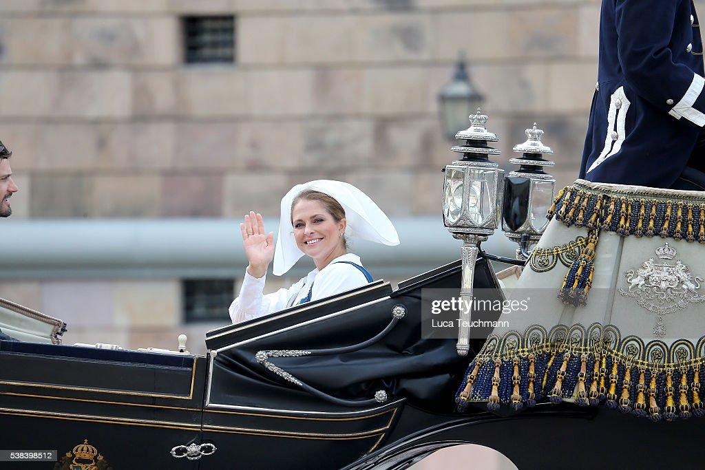 Princess Madeleine of Sweden attends the National Day Celebrations on June 6, 2016 in Stockholm, Sweden.