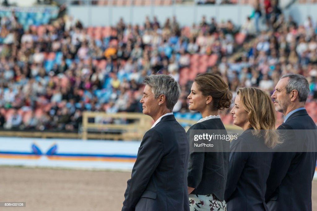Princess Madeleine of Sweden attends the opening ceremony of the 2017 Longines FEI European Championships at Ullevi stadium in Gothenburg Sweden on August 21 2017