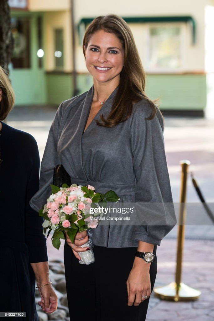 Princess Madeleine of Sweden Attends Foundation My Great-Day Seminar 'The Invisibility Project'