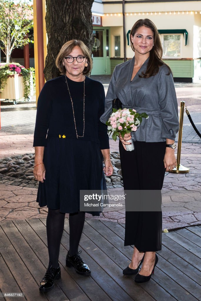 Princess Madeleine of Sweden (Right) attends the 'The Invisibility Project' seminar hosted by My Great-Day foundation at Grona Lund on September 13, 2017 in Stockholm, Sweden.
