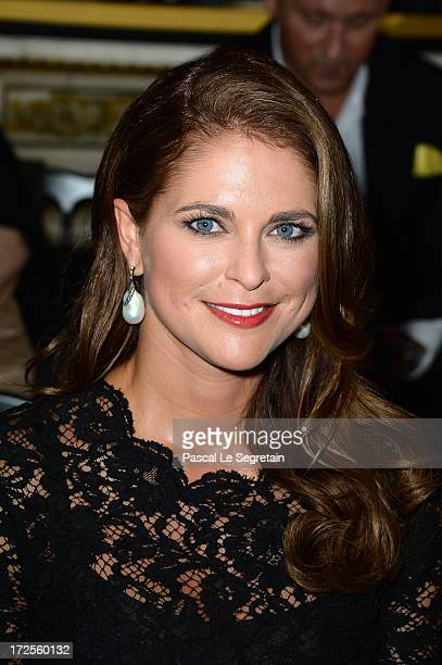 Princess Madeleine of Sweden attends the Valentino show as part of Paris Fashion Week HauteCouture Fall/Winter 20132014 at Hotel Salomon de...