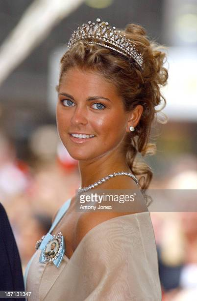 Princess Madeleine Of Sweden Attends The Wedding Of Crown Prince Haakon Of Norway MetteMarit In Oslo