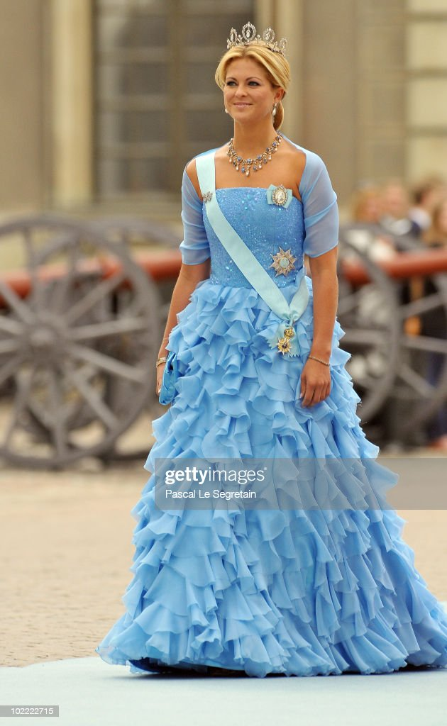 Princess Madeleine of Sweden attends the Wedding of Crown Princess Victoria of Sweden and Daniel Westling on June 19, 2010 in Stockholm, Sweden.