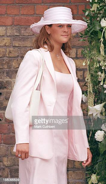 Princess Madeleine Of Sweden Attends The Wedding Of Princess Alexia Of Greece And Carlos Morales Quintana At The St Sophia Cathedral In London