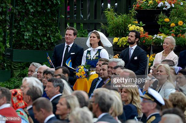 Princess Madeleine of Sweden Christopher O'Neill and Prince Carl Philip of Sweden attends the National Day Celebrations on June 6 2014 in Stockholm...