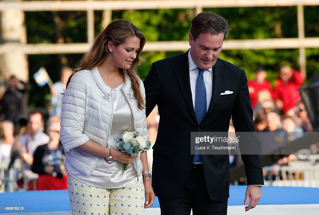 Princess Madeleine of Sweden; Christopher O'Neill attend a concert to celebrate the 38th birthday of Crown Princess Victoria of Sweden at Borgholmon July 14, 2015 in Oland, Sweden.