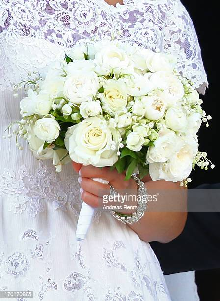 Princess Madeleine of Sweden departs from the wedding ceremony of Princess Madeleine of Sweden and Christopher O'Neill hosted by King Carl Gustaf XIV...