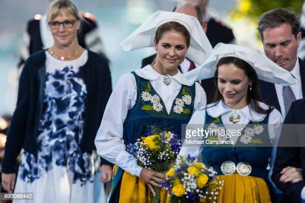 Princess Madeleine of Sweden during the national day celebrations at Skansen on June 6 2017 in Stockholm Sweden