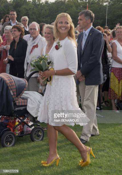 Princess Madeleine of Sweden in Oland Sweden on July 14th 2009