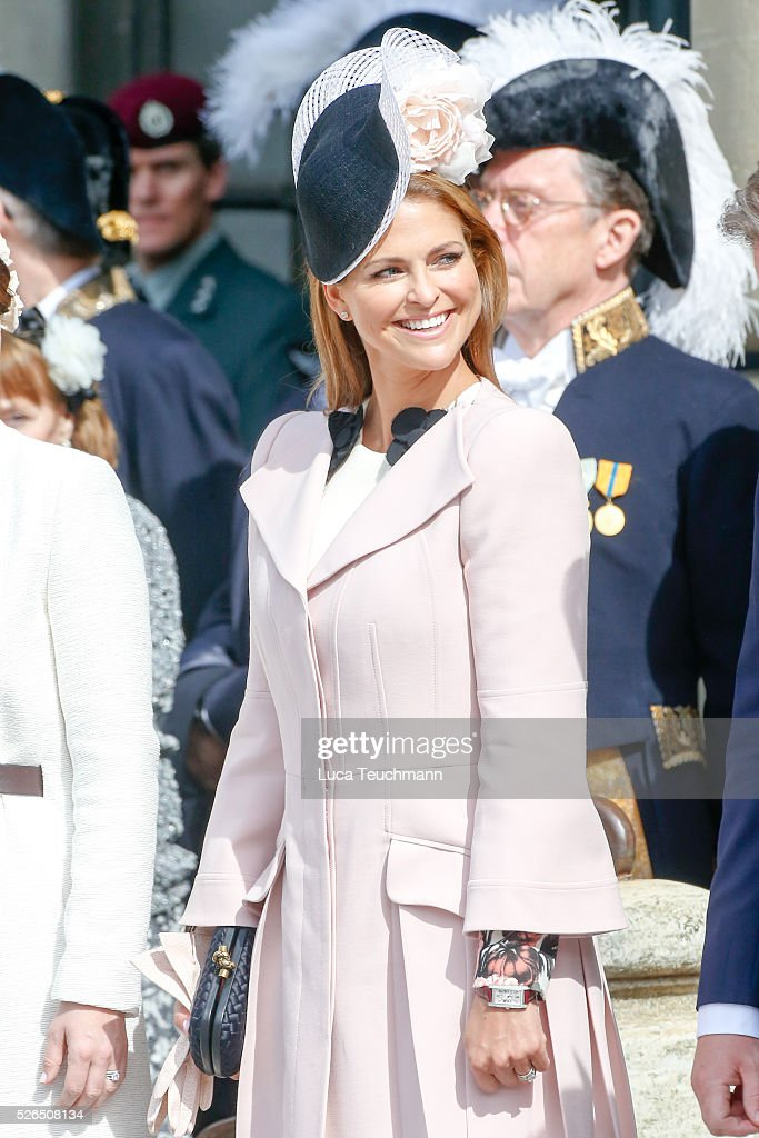 Princess Madeleine of Sweden is seen at the celebrations of the Swedish Armed Forces for the 70th birthday of King Carl Gustaf of Sweden on April 30, 2016 in Stockholm, .