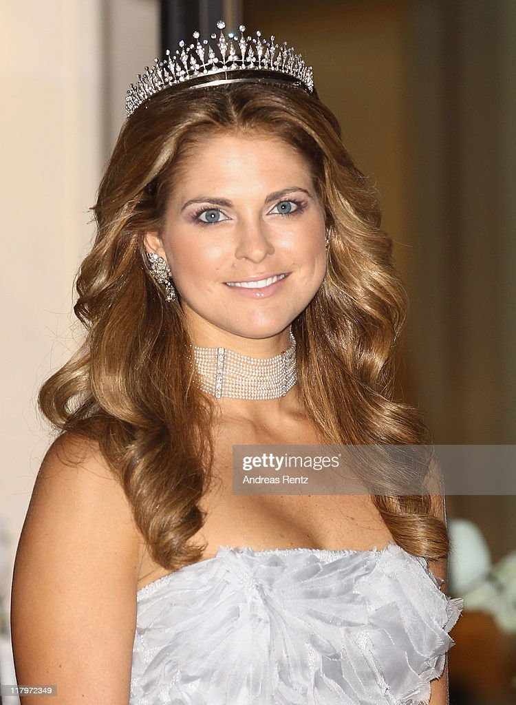 H. Princess Madeleine of Sweden leaves the Hotel Hermitage to attend a dinner at Opera terraces after the religious wedding ceremony of Prince Albert II of Monaco and Princess Charlene of Monaco on July 2, 2011 in Monaco. The Roman-Catholic ceremony followed the civil wedding which was held in the Throne Room of the Prince's Palace of Monaco on July 1. With her marriage to the head of state of the Principality of Monaco, Charlene Wittstock has become Princess consort of Monaco and gains the title, Princess Charlene of Monaco. Celebrations including concerts and firework displays are being held across several days, attended by a guest list of global celebrities and heads of state.