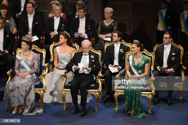 Princess Madeleine of Sweden Prince Carl Philip of Sweden and Prince Daniel of Sweden and Queen Silvia of Sweden King Carl XVI Gustaf of Sweden and...