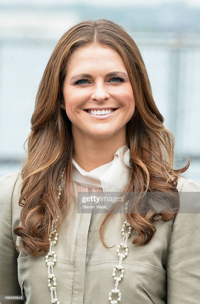 Princess Madeleine of Sweden visits The Castle Clinton National Monument at Battery Park on May 8, 2013 in New York City.