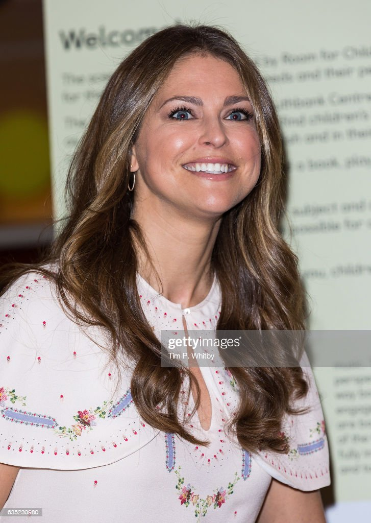 Princess Madeleine of Sweden visits the Southbank Centre's 'Imagine' Children's festival where she opened the 'Room for Children' at the Royal Festival Hall on February 14, 2017 in London, England. The 'Room for Children' is a library filled with children's books from Nordic countries.