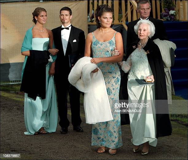 Princess Madeleine princess Victoria Carl Philipp and Princess Lilian in Sweden on June 19 2001