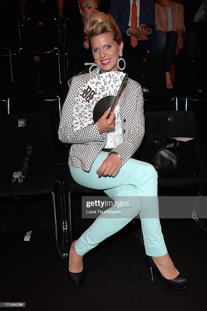 Princess Maja Synke von Hohenzollern attends the Riani Show during Mercedes-Benz Fashion Week Spring/Summer 2014 at Brandenburg Gate on July 2, 2013 in Berlin, Germany.