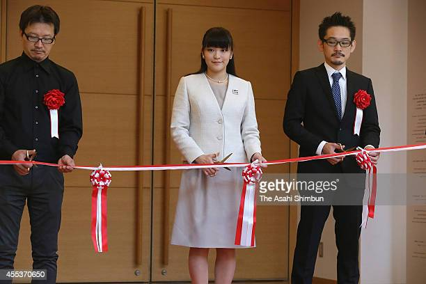 Princess Mako of Akishino attends a tapecutting ceremony of the International Ceramics Festival on September 12 2014 in Tajimi Gifu Japan
