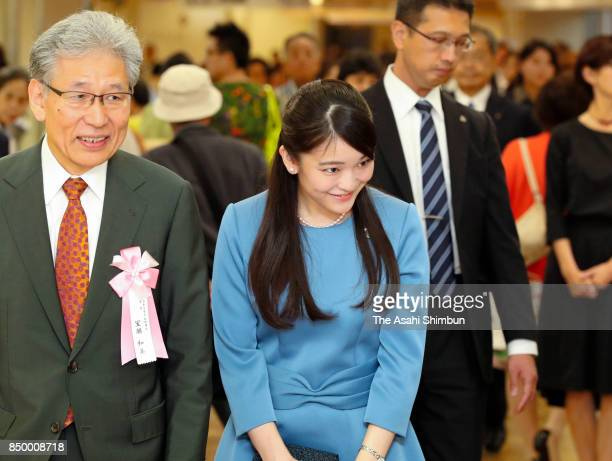 Princess Mako of Akishino attends the Japan traditional Crafts exhibition at Nihonbashi Mitsukoshi Department Store on September 20 2017 in Tokyo...