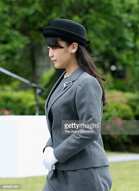 Princess Mako of Akishino attends the memorial ceremony at Chidorigafuchi National Cemetery on May 26 2014 in Tokyo Japan