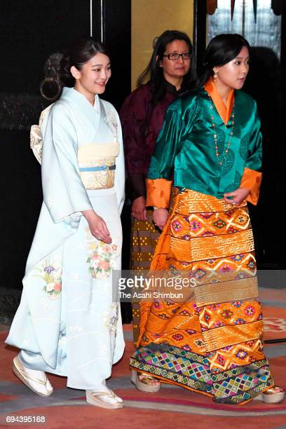 Princess Mako of Akishino attends the opening ceremony of the Japan Week with Princess Eeuphelma Choden Wangchuck of Bhutan on June 2 2017 in Thimphu...