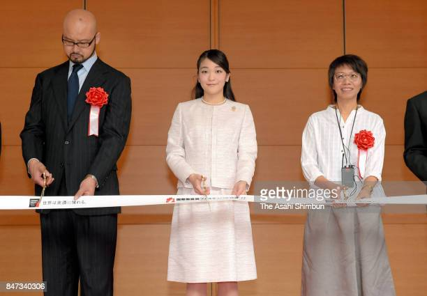 Princess Mako of Akishino attends the tapecutting ceremony of the International Ceramics Festival on September 15 2017 in Tajimi Gifu Japan