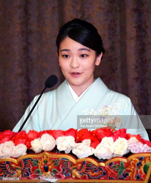 Princess Mako of Akishino delivers the opening remark during the opening ceremony of the Japan Week with Princess Eeuphelma Choden Wangchuck of...