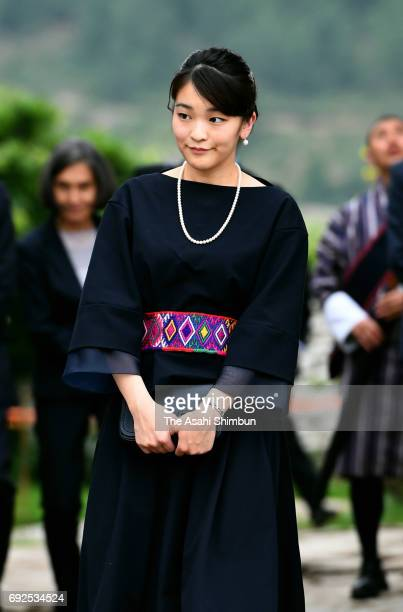 Princess Mako of Akishino inspects Kichu Lhakang on June 4 2017 in Paro Bhutan