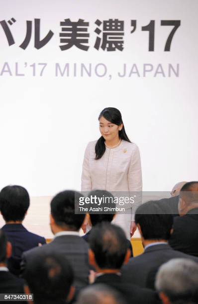 Princess Mako of Akishino is seen after addressing during the opening ceremony of the International Ceramics Festival on September 15 2017 in Tajimi...