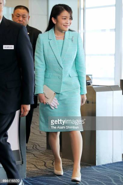 Princess Mako of Akishino is seen on arrival at Haneda International Airport after her visit to Bhutan on June 8 2017 in Tokyo Japan