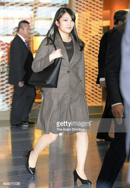 Princess Mako of Akishino is seen on departure to the United Kingdom at Tokyo International Airport on January 8 2015 in Tokyo Japan