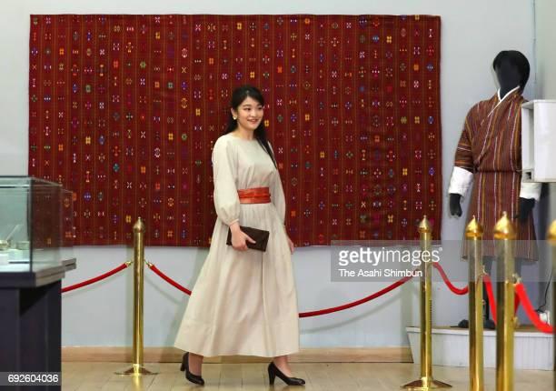 Princess Mako of Akishino visits the Bhutan Textile Museum on June 3 2017 in Thimphu Bhutan
