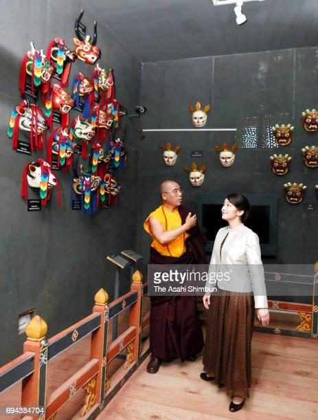 Princess Mako of Akishino visits the national museum on June 5 2017 in Paro Bhutan