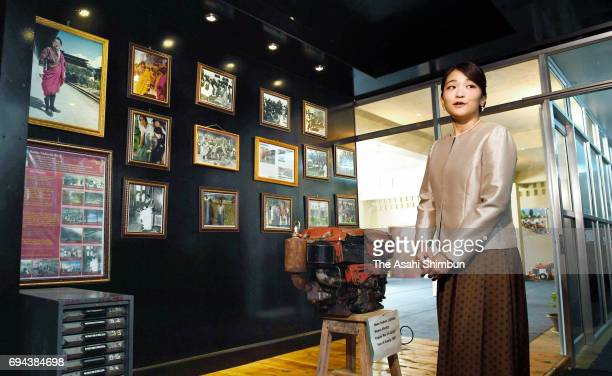 Princess Mako of Akishino visits the Nishioka Museum named after Japanese agriculture leader Keiji Nishioka who contributed agricultural development...
