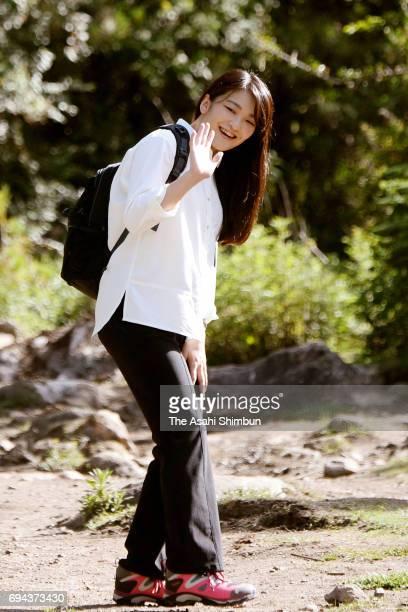 Princess Mako of Akishino walks to the Paro Taktsang temple on June 6 2017 in Paro Bhutan