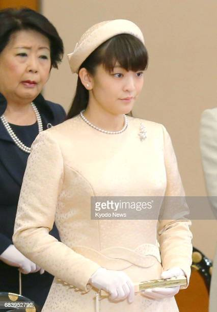 Princess Mako the first grandchild of Japanese Emperor Akihito and the elder daughter of Prince Akishino attends the annual New Year Poetry Reading...