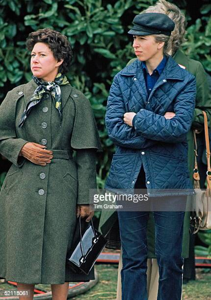 Princess Margaret And Princess Anne At The Windsor Horse Show