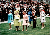 Princess Margaret and Princess Anne Queen Mother in United Kingdom