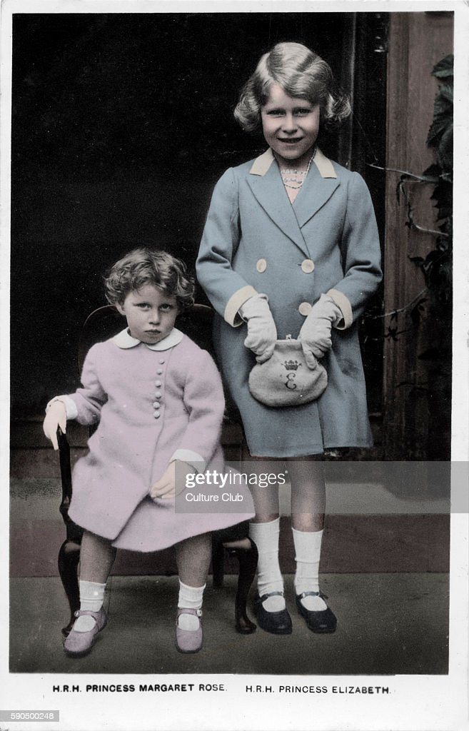 Princess Margaret and Princess Elizabeth the Royal sisters as children 1930s Photographer not known