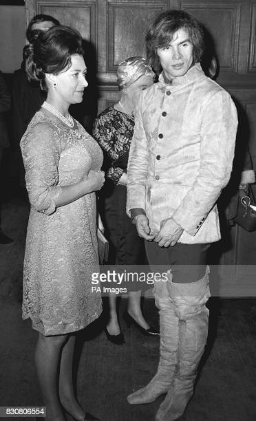 Princess Margaret and Rudolf Nureyev during a reception at the Royal Academy of Dancing in Knightsbridge London