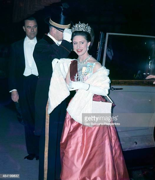 Princess Margaret arriving at a gala ballet performance at Covent Garden in London on 15th May 1963