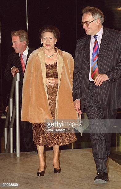 Princess Margaret Is Greeted By Ian Albeh Chief Executive Of Sadler's Wells As She Arrives For The Opening Performance Of The Royal Ballet At The New...