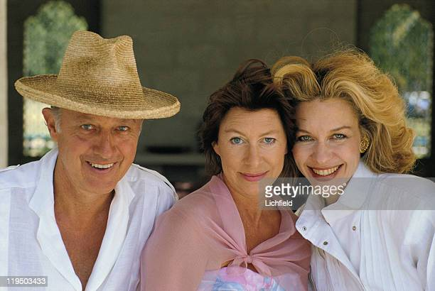 Princess Margaret Lord Glenconner and Lynn Wyatt Mustique West Indies 23rd February 1985