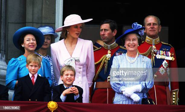 Princess Margaret Prince Harry Princess Alexandra Prince William Diana Princess of Wales Prince Charles Prince of Wales Queen Elizabeth ll and Prince...