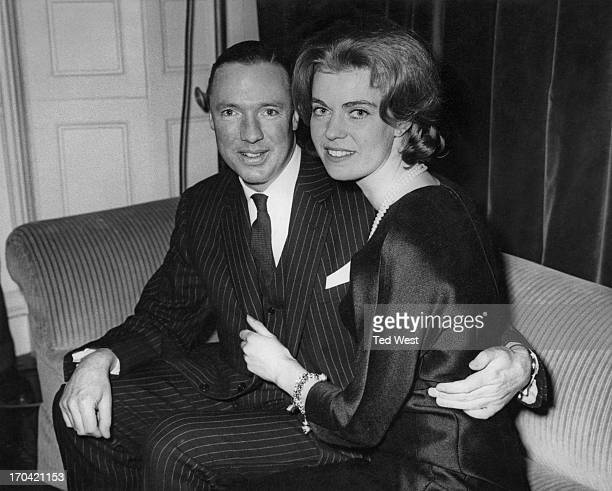 Princess Margaretha of Sweden with her fiance John Ambler at a press conference in London Princess Margaretha is in London to meet relatives and...