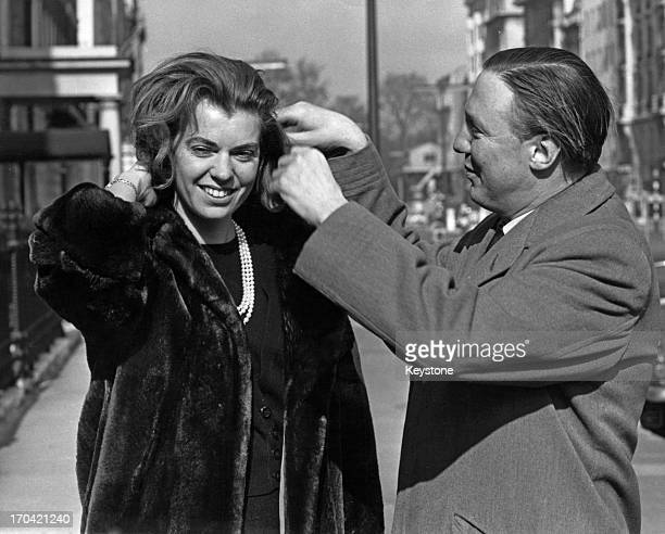 Princess Margaretha of Sweden with her fiance John Ambler outside the Swedish Embassy London 9th March 1964 This is the first full day the couple...