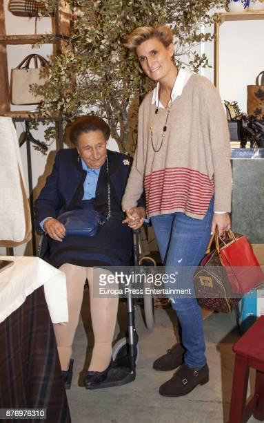 Princess Margarita and her daughter Maria Zurita attend the charity market 'Rastrillo Nuevo Futuro' on November 20 2017 in Madrid Spain