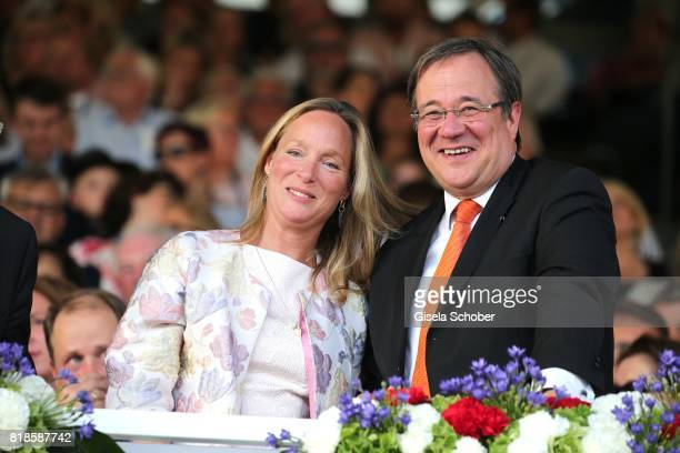 Princess Margarita de Bourbon de Parme cousin of Willem Alexander of the Netherlands and Armin Laschet Prime Minister of North RhineWestphalia during...
