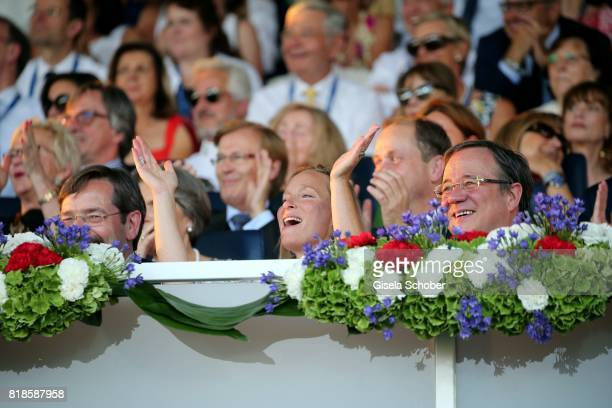 Princess Margarita de Bourbon de Parme cousin of Willem Alexander of the Netherland and Armin Laschet Prime Minister of North RhineWestphalia during...