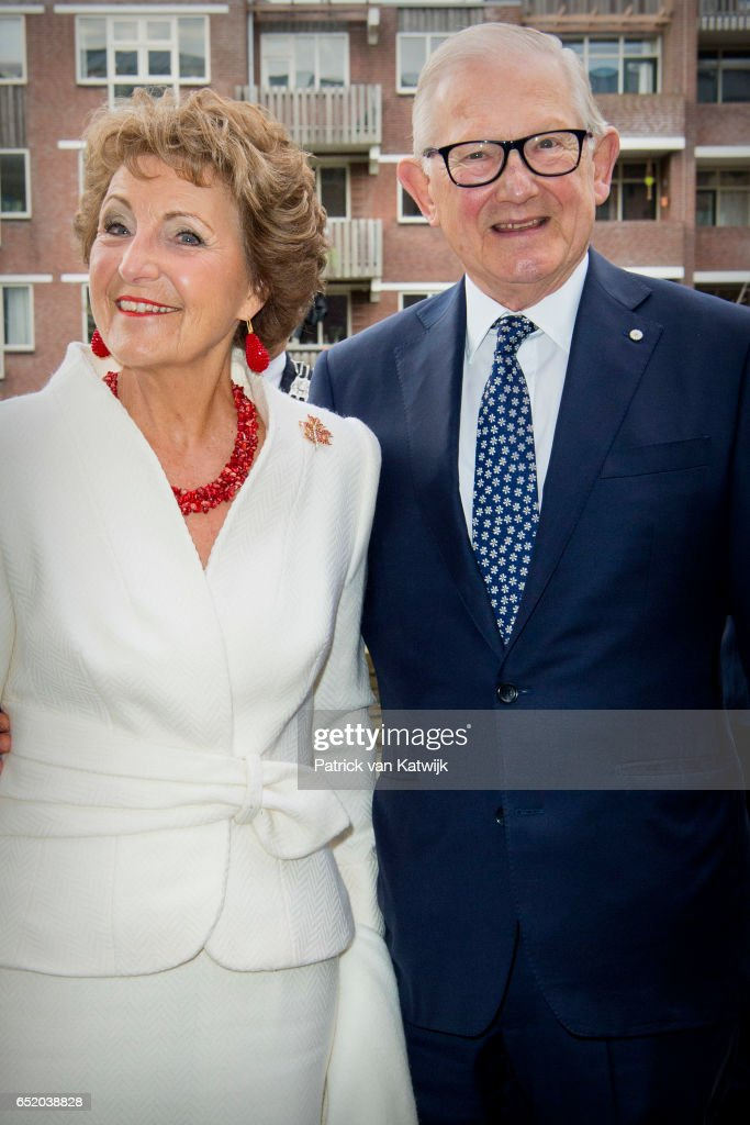 Princess Margriet of the Netherlands and her husband Pieter van Vollenhoven attend the opening of the exhibition of Canadian Inuit Art in the Volkenkunde museum on March 10, 2017 in Leiden, Netherlands. The exhibition includes pieces from he private collection of the Princess and collector Hans van Berkel. Princess Margriet was born in Canada in 1943.